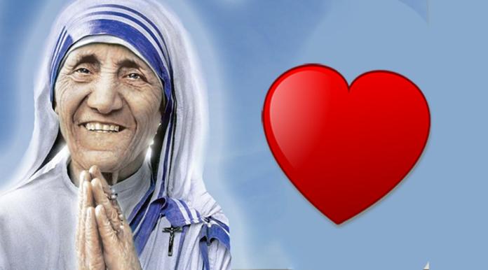 Preghiera a Madre Teresa, 17 Luglio 2020