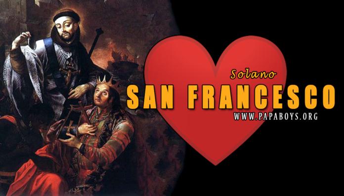 San Francesco Solano, 14 Luglio 2020