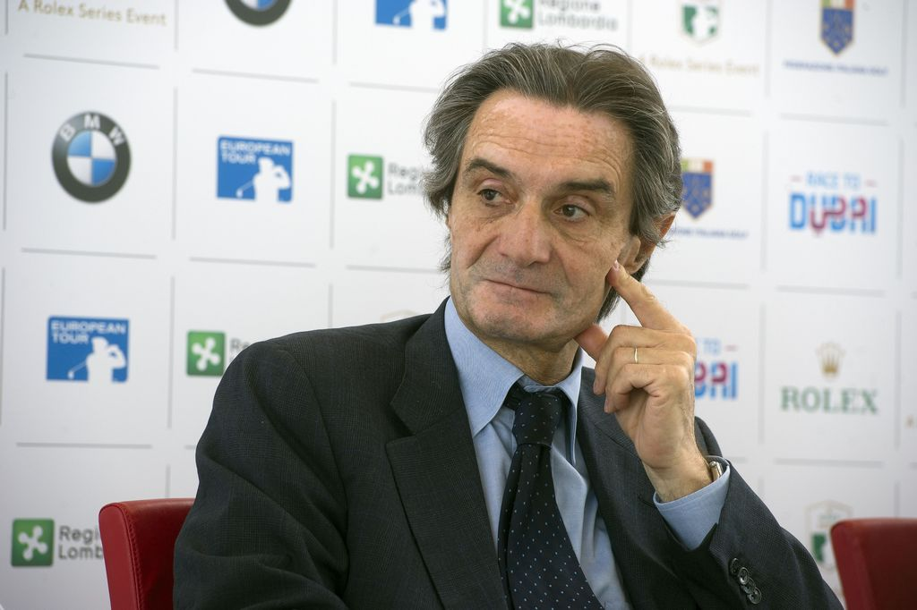 il governatore della Lombardia Fontana