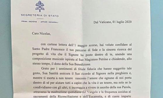 Lettera di Papa Francesco a Nicolas Tonoli