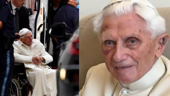 Benedetto XVI (Collage La Repubblica - Secolo d'Italia)