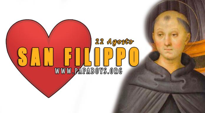 San Filippo Benizi, 22 Agosto