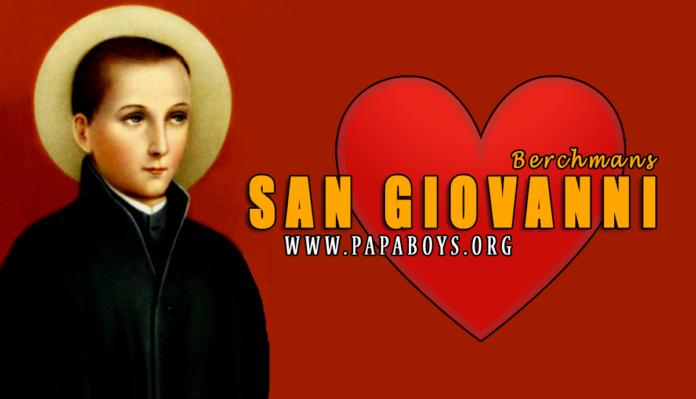 San Giovanni Berchmans,13 Agosto 2020