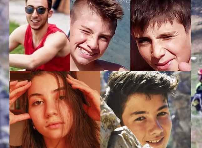 Marco, Camilla, Samuele, Nicolò ed Elia