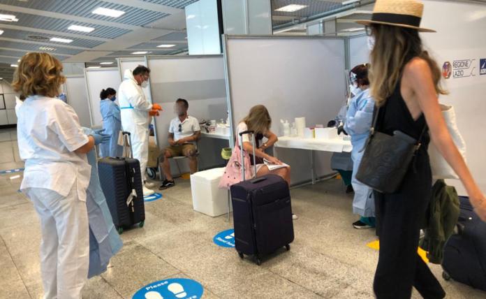 Test Covid in Aeroporto Sardegna Reporter