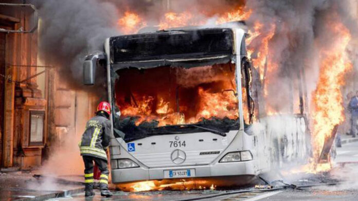Atac in fiamme