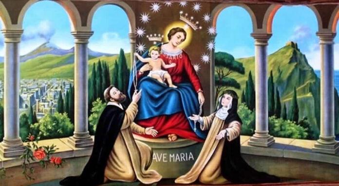 San Domenicodi Guzmán e la Vergine di Pompei