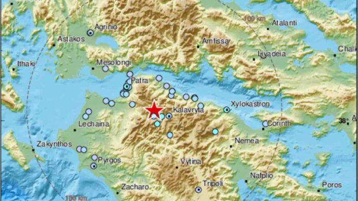 forte terremoto in Grecia 22 agosto 2020