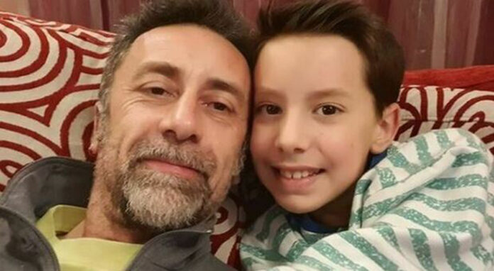 Claudio Baima Poma e suo figlio