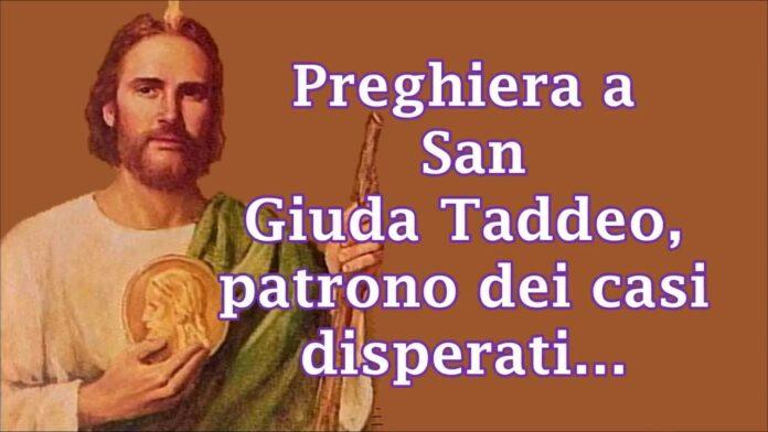 Preghiera a San Giuda Taddeo per una grazia
