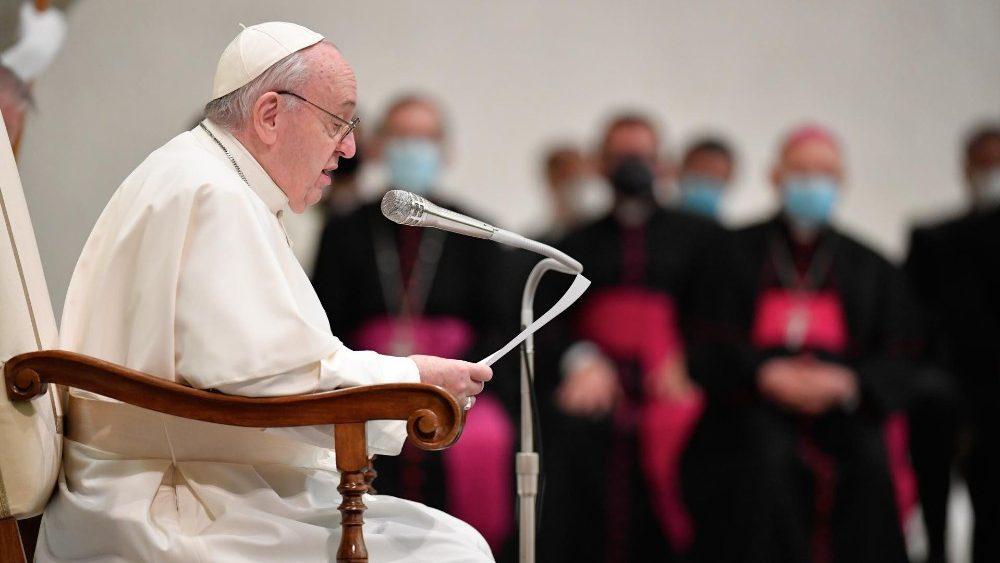 Papa Francesco ricorda Giovanni Paolo II (Vatican Media)