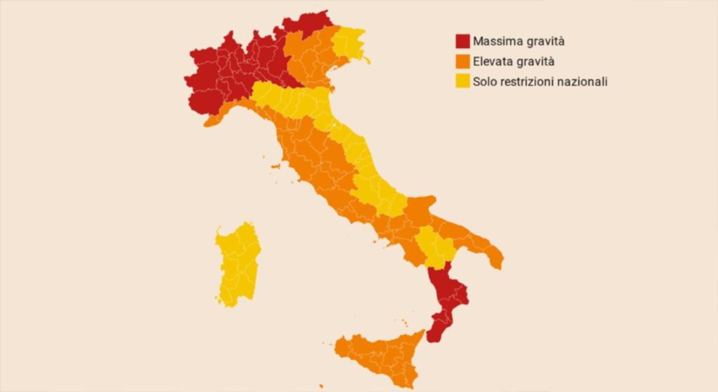 Mappa Covid-19 Italia