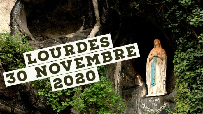Dalla Grotta di Lourdes preghiera del Santo ROSARIO. Lunedì 30 novembre 2020. LIVE TV dalle h. 23.15