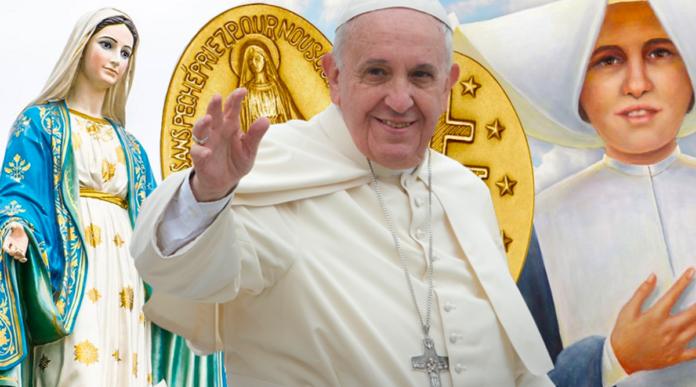 Papa Francesco e la Madonna della Medaglia Miracolosa