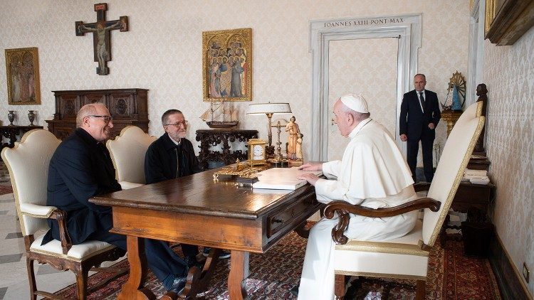 Padre Pierluigi Maccalli ha incontrato Papa Francesco