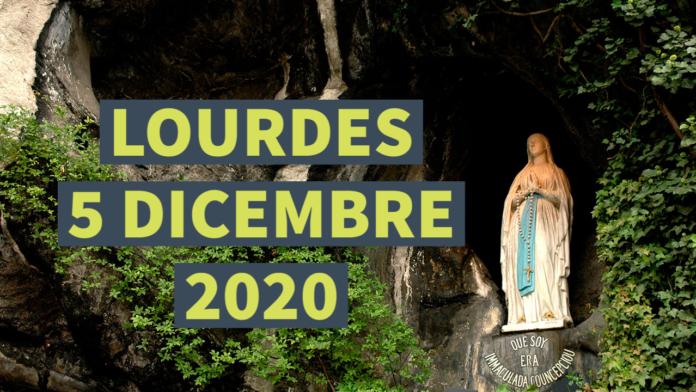 Santo ROSARIO dalla Grotta delle Apparizioni di Lourdes. Sabato 5 dicembre 2020