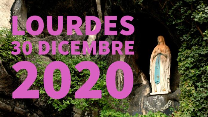 Santo ROSARIO dalla Grotta delle Apparizioni di Lourdes. Mercoledì 30 dicembre 2020. LIVE TV dalle h. 23.15