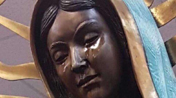La Vergine di Guadalupe che piange