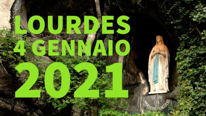 Santo ROSARIO dalla Grotta delle Apparizioni di Lourdes. Lunedì 4 gennaio 2021. LIVE TV dalle h. 23.15