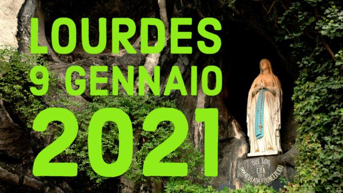 Santo ROSARIO dalla Grotta delle Apparizioni di Lourdes. Sabato 9 gennaio 2021. LIVE TV dalle h. 23.15