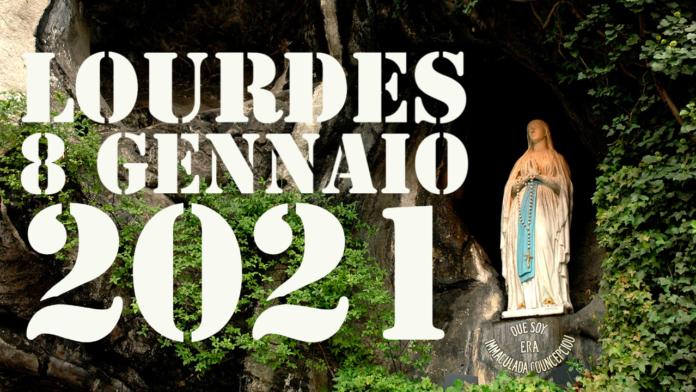 Santo ROSARIO dalla Grotta delle Apparizioni di Lourdes. Venerdì 8 gennaio 2021. LIVE TV dalle h. 23.15