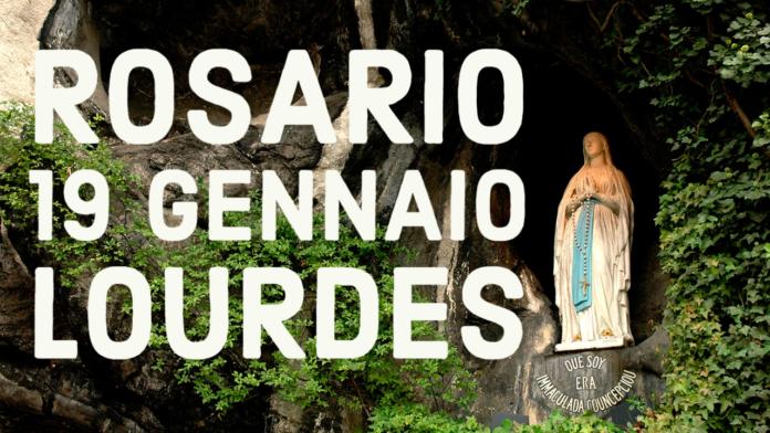 Santo ROSARIO dalla Grotta delle Apparizioni di Lourdes. Martedì 19 gennaio 2021. LIVE TV dalle h. 23.15