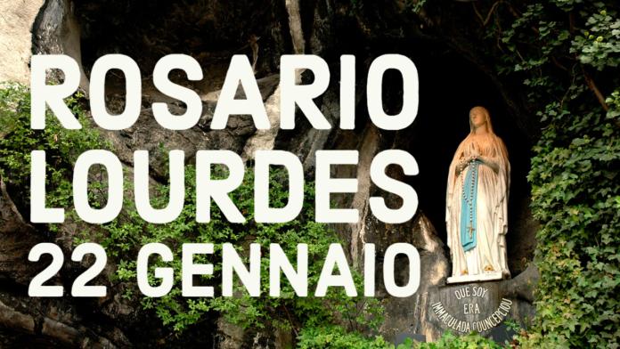 Santo ROSARIO dalla Grotta delle Apparizioni di Lourdes. Venerdì 22 gennaio 2021. LIVE TV dalle h. 23.15