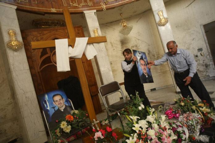 la Cattedrale dove i terroristi massacrarono 48 cristiani