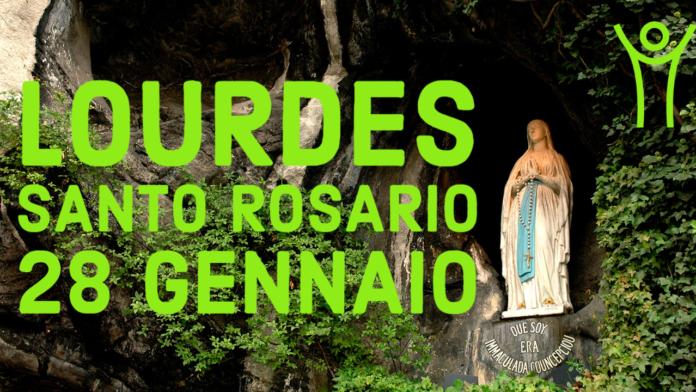 Santo ROSARIO dalla Grotta delle Apparizioni di Lourdes. Giovedì 28 gennaio 2021. LIVE TV dalle h. 23.15