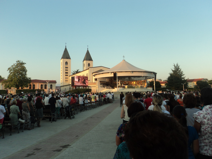 The column dedicated to Medjugorje, January 23, 2021