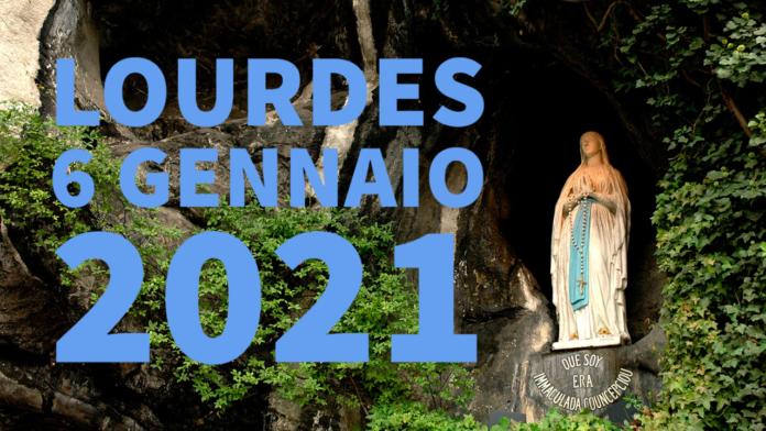 Santo ROSARIO dalla Grotta delle Apparizioni di Lourdes. Mercoledì 6 gennaio 2021. LIVE TV dalle h. 23.15
