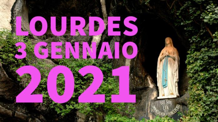 Santo ROSARIO dalla Grotta delle Apparizioni di Lourdes. Domenica 3 gennaio 2021. LIVE TV dalle h. 23.15