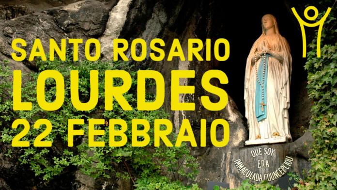 Santo ROSARIO dalla Grotta delle Apparizioni di Lourdes. Lunedì 22 febbraio 2021. LIVE TV dalle h. 23.15