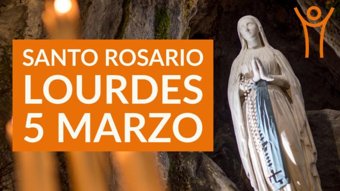 Santo ROSARIO dalla Grotta delle Apparizioni di Lourdes. Venerdì 5 marzo 2021. LIVE TV dalle h. 23.15