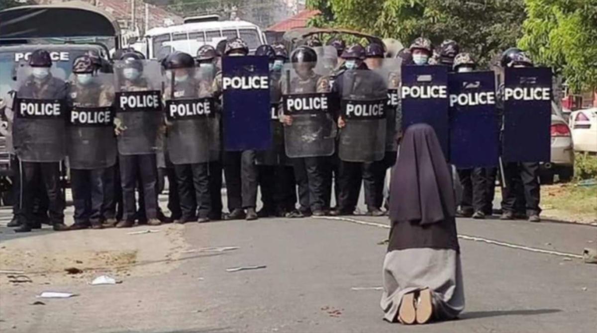 Suor Ann Nu Thawng è diventata un simbolo in Mynamar