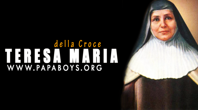 Beata Teresa Maria della Croce: storia e preghiera