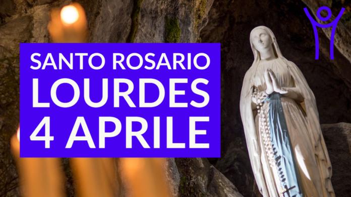 Santo ROSARIO dalla Grotta delle Apparizioni di Lourdes. Domenica 4 Aprile 2021, LIVE TV alle h.23.15