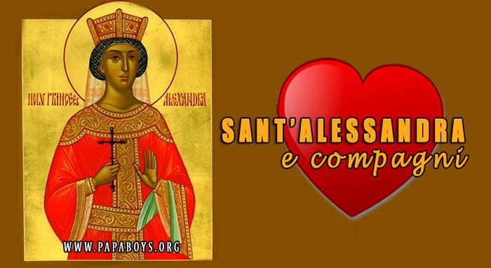 Sant'Alessandra e compagni, Martiri a Nicomedia