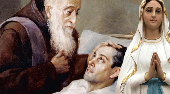 San Leopoldo è stato miracolato dalla Madonna di Lourdes