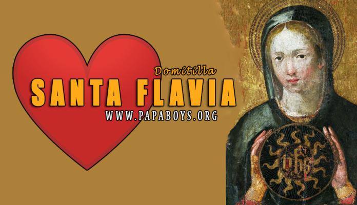 Santa Flavia Domitilla, Martire