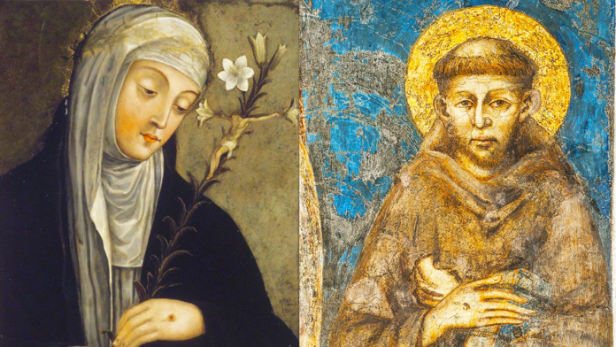 San Francesco e Santa Caterina proteggete l'Italia