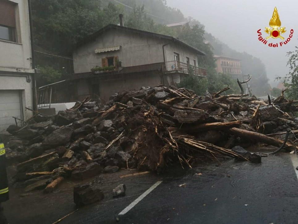 Il maltempo sta mettendo in difficoltà la provincia di Como