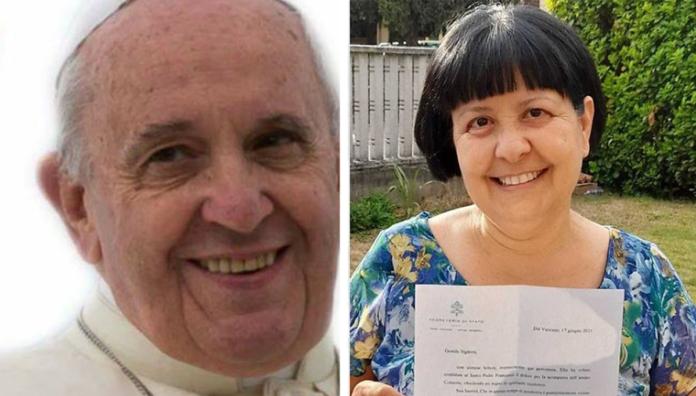 Papa Francesco risponde alla lettera di Pierina Mura