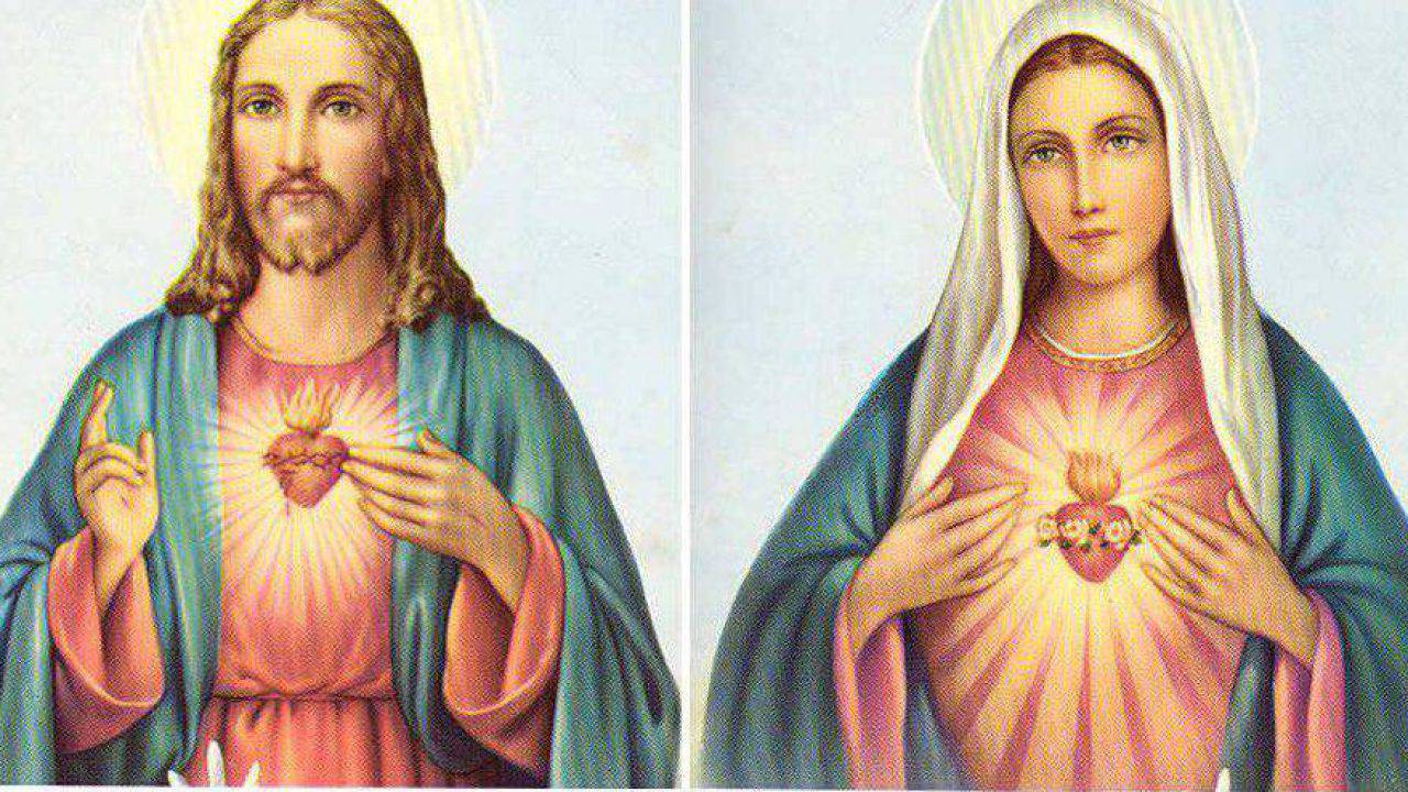 Preghiera per affidarsi ai Sacri Cuori di Gesù e Maria