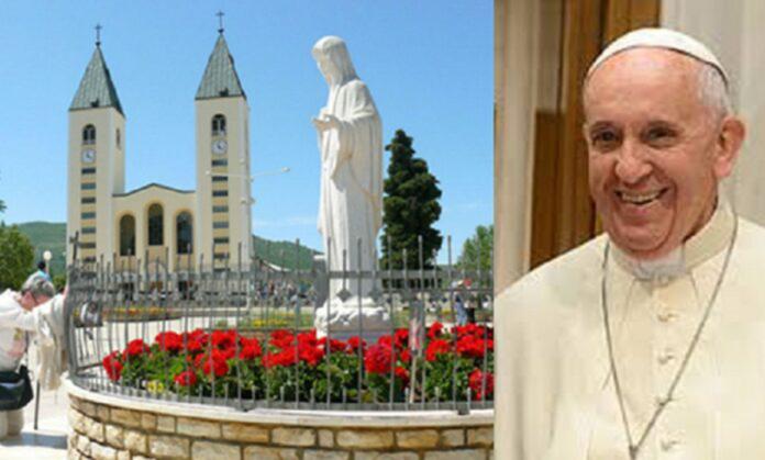 Papa Francesco parla ai giovani riuniti a Medjugorje