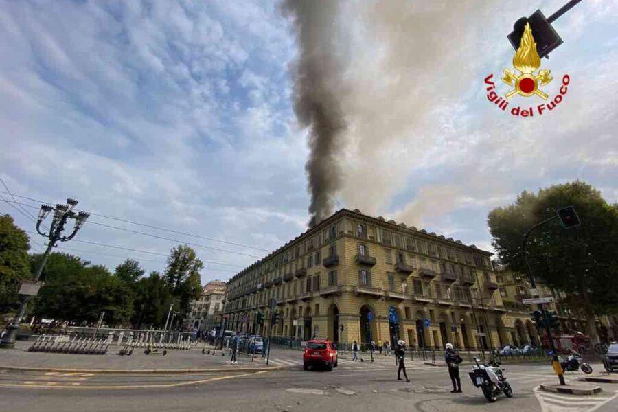 Maxi incendio a Torino nella giornata di ieri