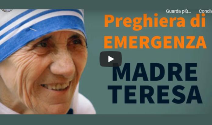 Recita la preghiera di Madre Teresa