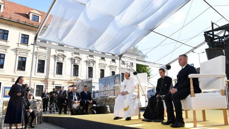 L'incontro di Papa Francesco con gli ebrei in Slovacchia