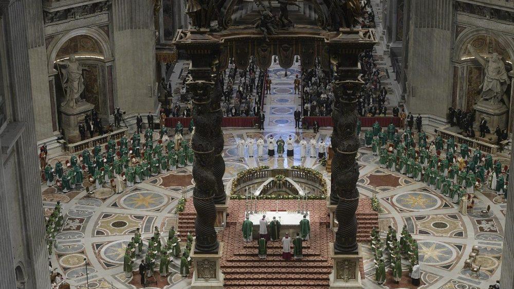 Messa di inizio del cammino sinodale in Vaticano