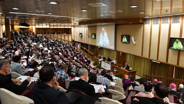 Giornata di riflessione nell'Aula Nuova del Sinodo (09-10-2021)